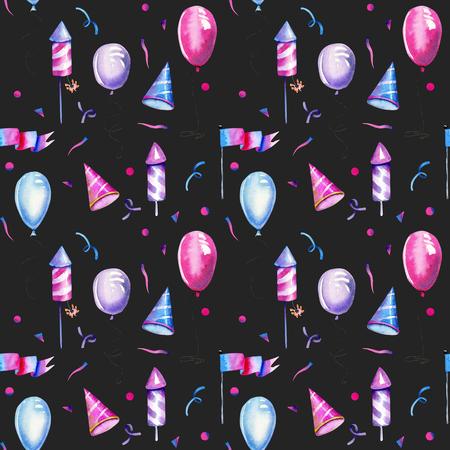 Watercolor air ballons