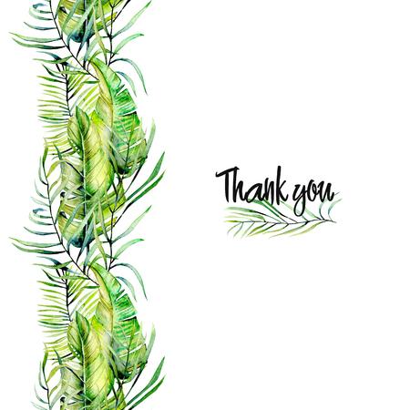 Watercolor Thank you card design