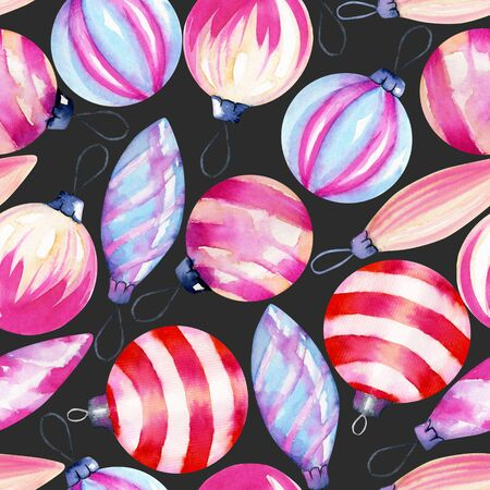 Watercolor decorations, seamless pattern of watercolor