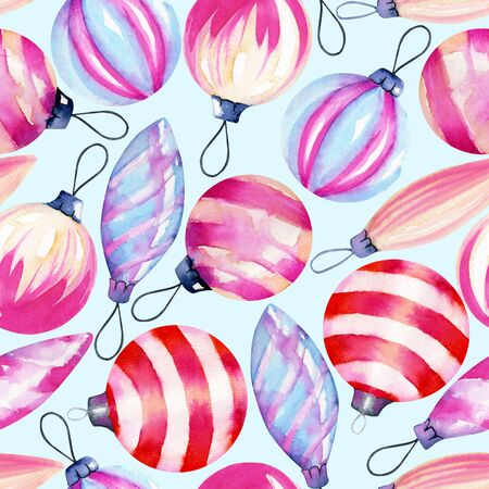 Watercolor decorations, seamless pattern