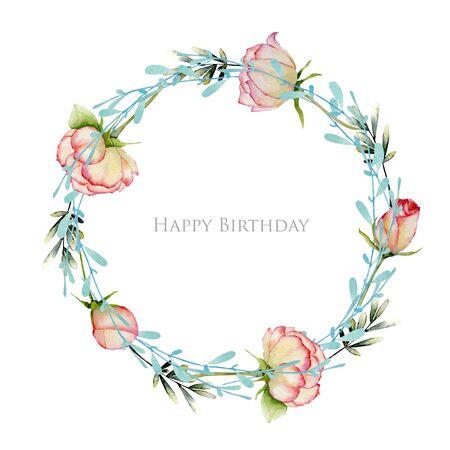 Watercolor flower design Banco de Imagens