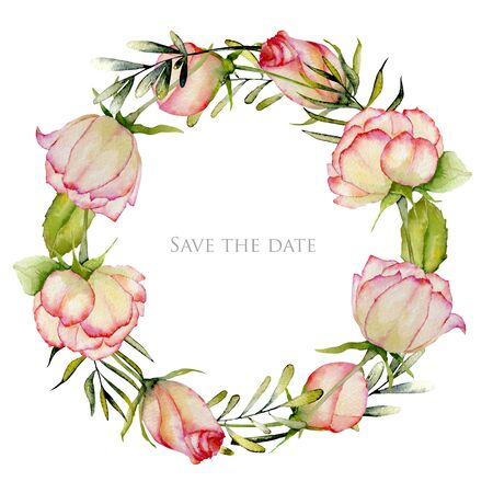 Watercolor card, Save the date card design