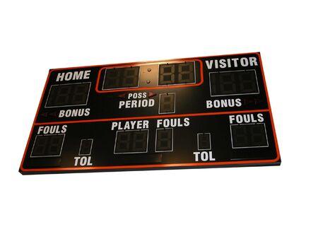 Basketbal Scorebord Stockfoto