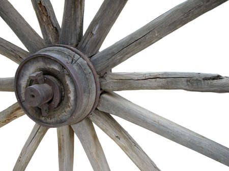 Old Wagon Wheel Isolated Stock Photo - 2336123