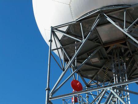 detecting: Doppler Radar Array Tower Stock Photo
