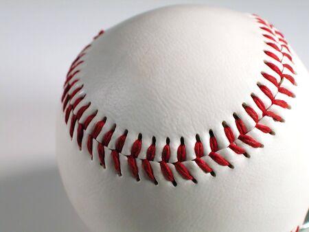 sphere base: Baseball Stitches Stock Photo