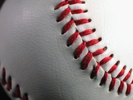 Baseball Stitches-Macro photo