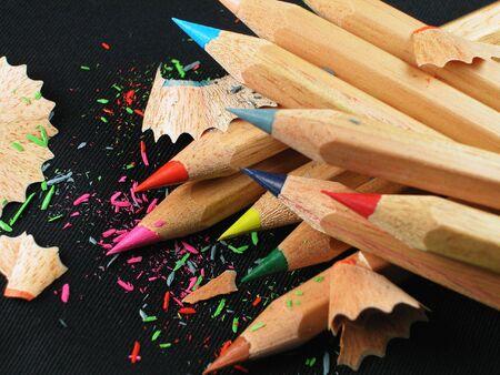 着色された鉛筆の黒 写真素材