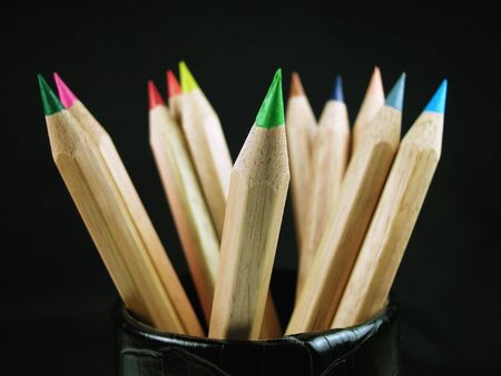 Colored Pencils-In Cup Stock Photo - 2571911