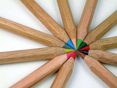Colored Pencils-In Radius Banco de Imagens - 2571925