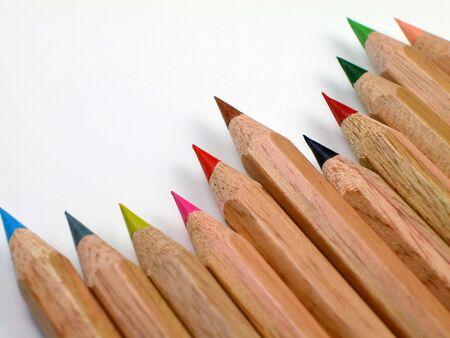 着色された鉛筆の角度 写真素材