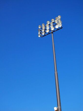Stadium Lights-Blue Sky