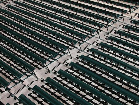 Baseball Stadium Rows of Seats