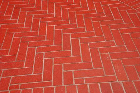 Herringbone Brick Pattern as Flooring Imagens