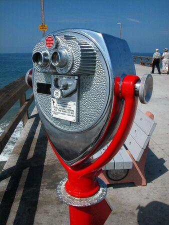 Telescope on Ocean Pier