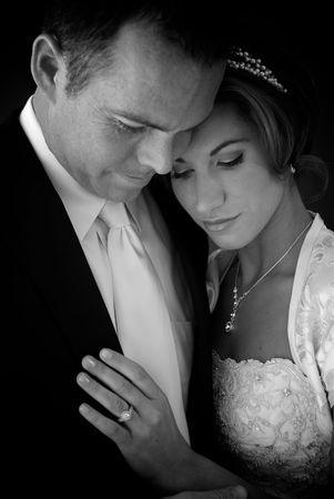 Bride and Groom-Black and White Stock Photo - 5224920