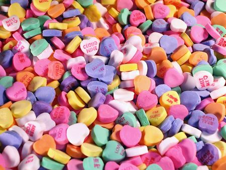 Background of Candy Hearts photo