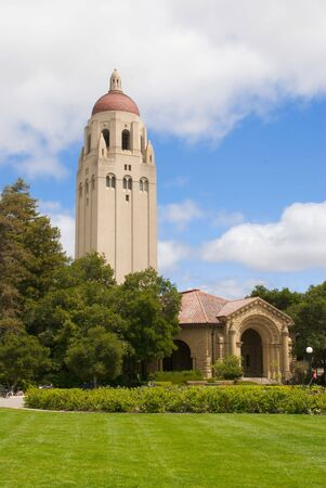 Hoover Tower Near Art Gallery at Stanford University