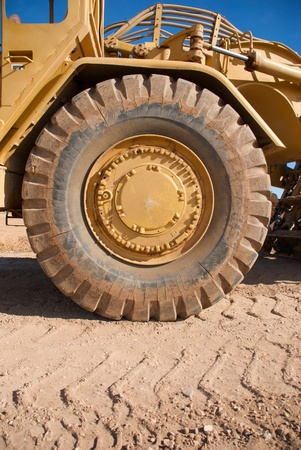 yellow earth: Earth Mover Tire