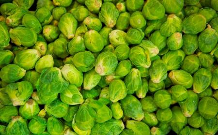 Grocery Bin of Brussel Sprouts Reklamní fotografie