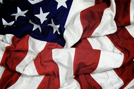 A crumpled American flag with muted tones Banco de Imagens - 15330460
