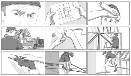 draught: Construction site storyboards
