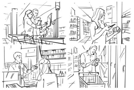 Storyboard with grocery