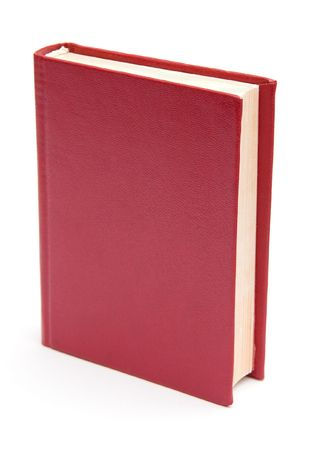 textbook: Blank cover book isolated on white background