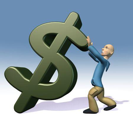 dolar: fall of the dolar Stock Photo