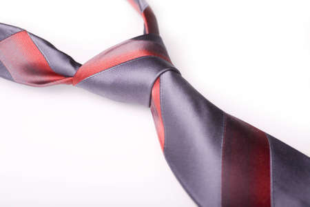 Grey silky necktie with red strips Stock Photo - 3716015