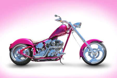 motor bikes: Cool pink chopper