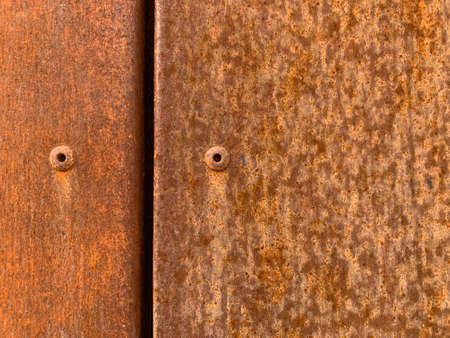 Rusty metal surface, texture for design. Rusty background with space for text or image. Rust has appeared on the metal surface. Concept: metal corrosion Stockfoto