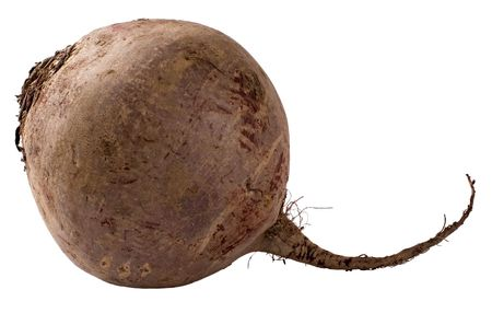 A beet isolated on a white background.