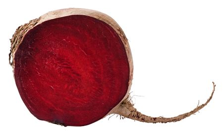 A section of a beet isolated on a white background. Stock Photo