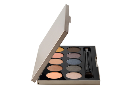 Colorful eyeshadow cosmetics Set makeup beauty and fashion On white background Standard-Bild