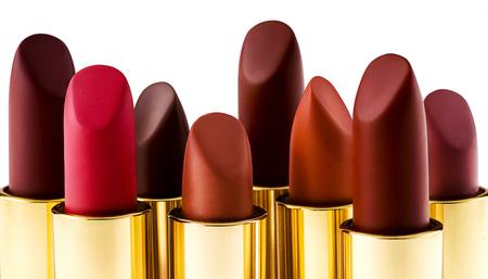 Lipsticks, isolated on white