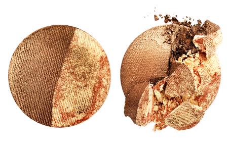 Crushed eyeshadow isolated on white background Standard-Bild