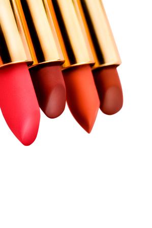 Lipsticks, isolated on white background Standard-Bild