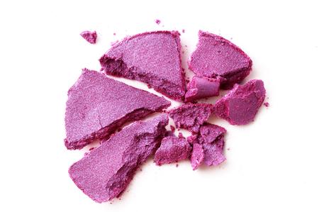 Eyeshadow violet crushed isolated on a white background Standard-Bild