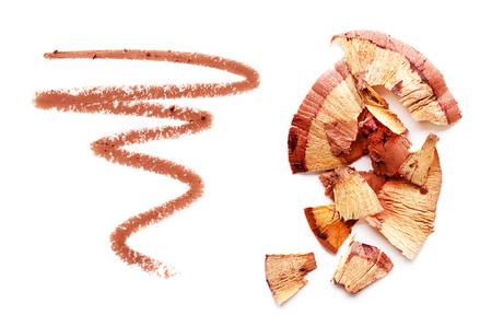 Kosmetische potlood geïsoleerd op een witte achtergrond Stockfoto