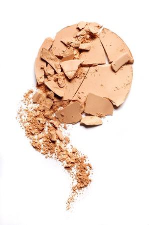 Crushed EyeShadow sample on white for magazine Standard-Bild