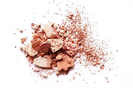 Crushed eyeshadow brown isolated on white background Standard-Bild