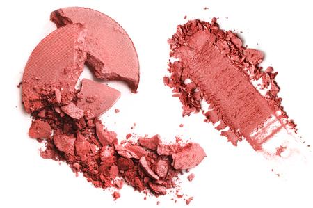 Crushed blusher isolated on white background Standard-Bild