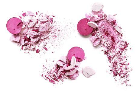 Eyeshadow pink on a white background Standard-Bild