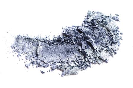Crushed gray eyeshadow isolated on white