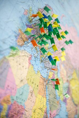 Europe Map pins travel