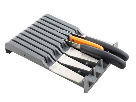 Kitchen storage of knives in the organizer Standard-Bild