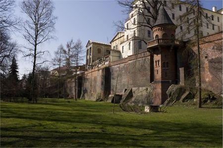 olomouc: city walls of old Olomouc city Stock Photo