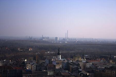 ironworks: Nova hut - ironworks, skyline of stacks