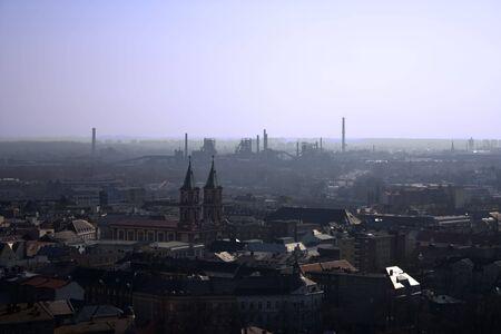 Vitkovice ironworks - skyline of stacks
